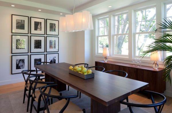 Wishbone chairs usher in a minimal vibe
