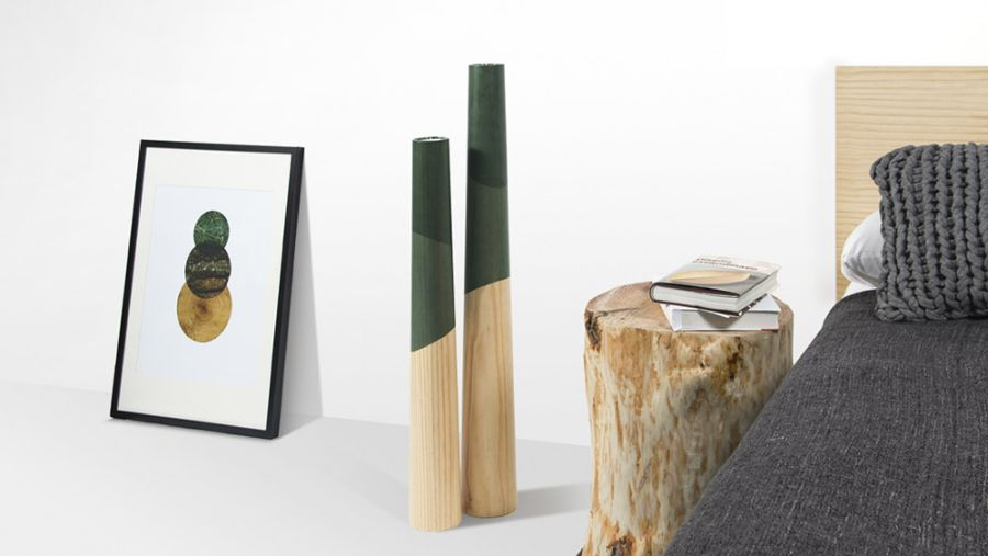 Wood candle holders design Elegant ETNA Wood Candle Holders Inspired By Fiery Volcanoes!