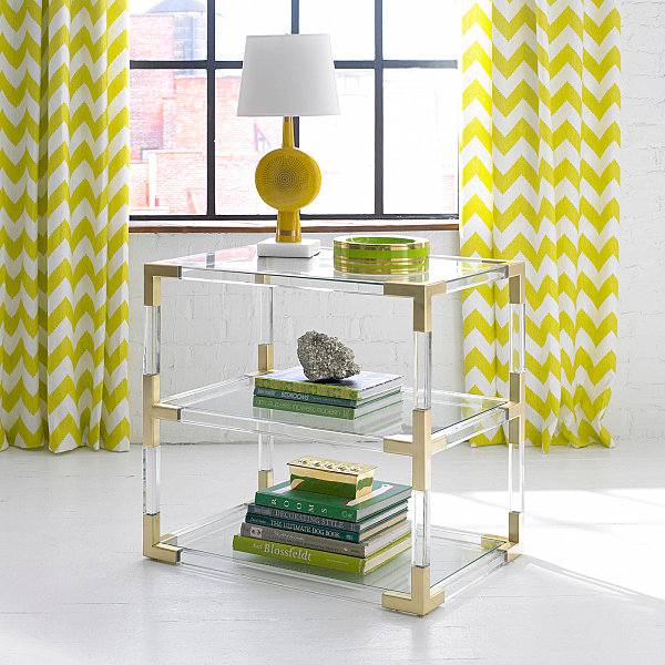 Yellow disc table lamp