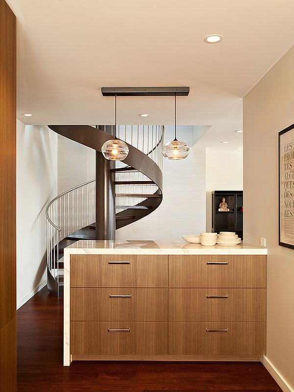 contemporary spiral staircase 15 Spiral Staircases That Pave The Way To Cloud Nine