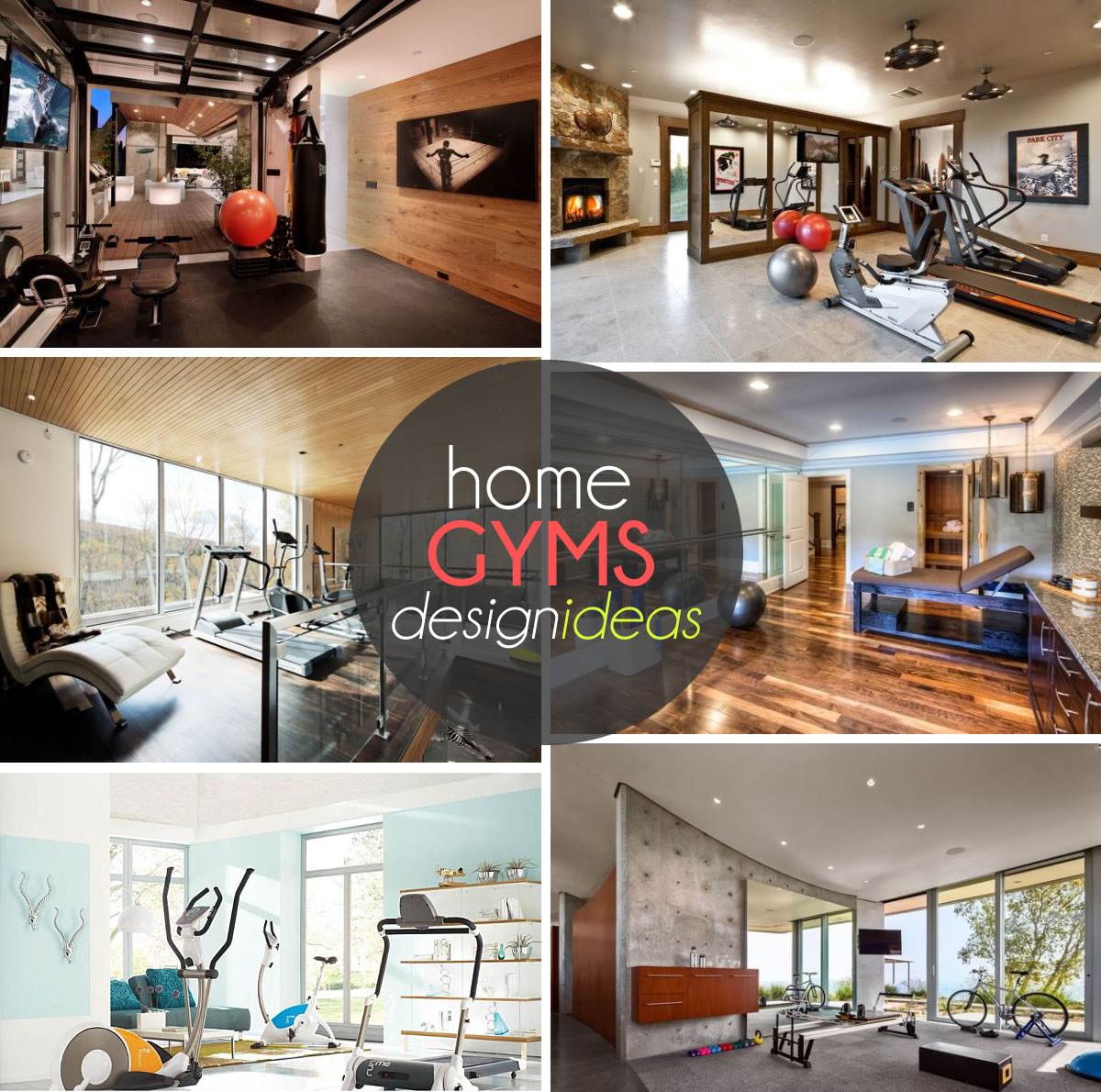 Small Home Gym Decorating Ideas Part - 17: View In Gallery Exquisite Home Gym Design Ideas