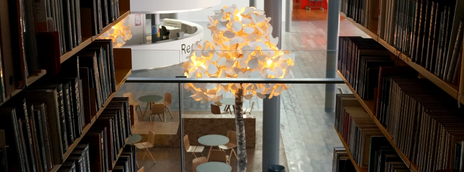 library fake trees Leaf Lamp Trees at University of Copenhagen Are As Good As Real Ones