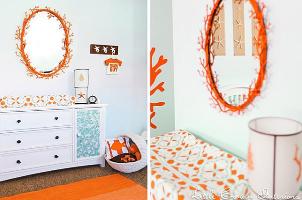 orange nursery room