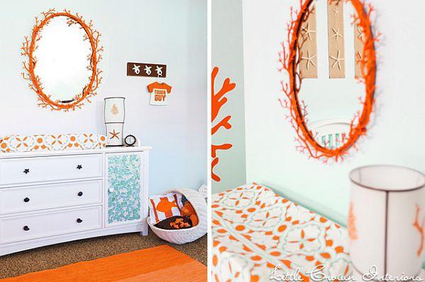 orange nursery room