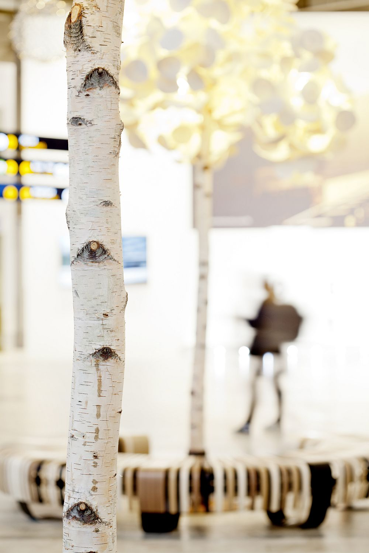 real birch fake tree design