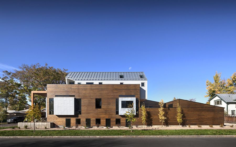 33rd Avenue house in Colorado House Covered In Wood Delivers Privacy In Style