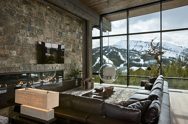 View In Gallery A Majestic Backdrop For The Eero Aarnio Bubble Chair