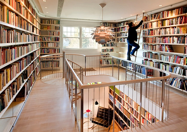 A perfect home library for the bibliophiles!