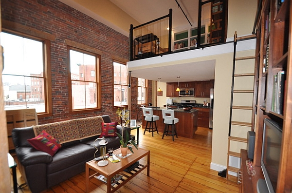 A simple mezzanine level transforms the apartment into a loft