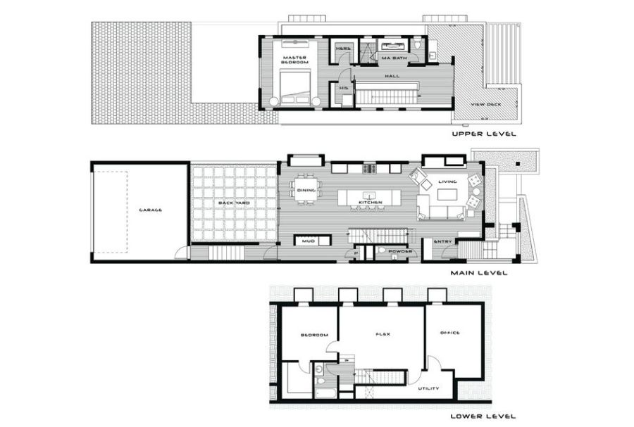 Architectural plans for a spacious modern house