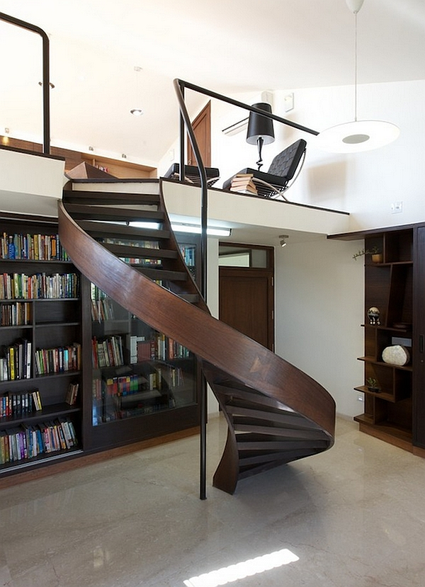 Audacious staircase leads to the reclusive retreat!