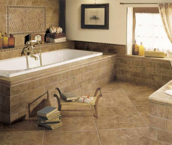 Bathroom floor tiles design idea