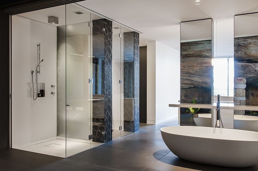 . Contemporary Ensuite Bathroom With Cutting Edge Design in Sydney