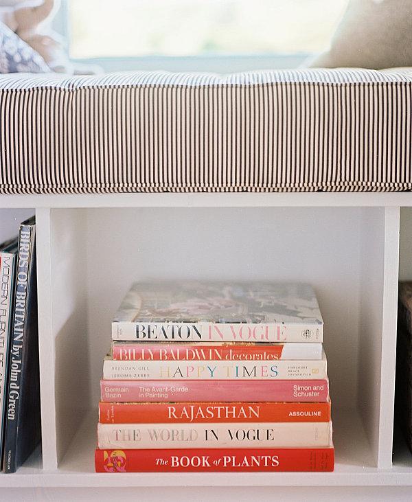 Book display in under-seat storage