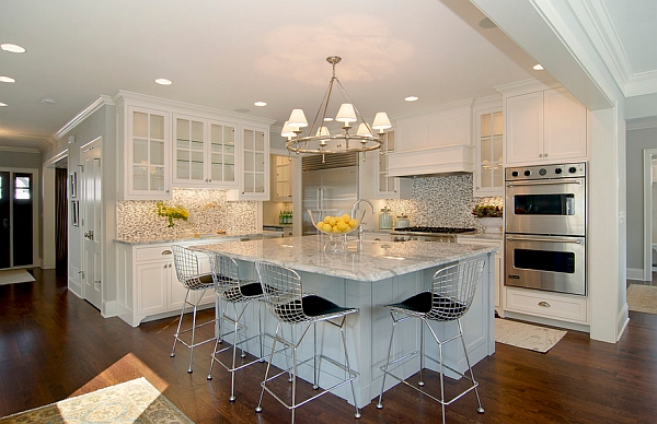 View in gallery Bringing in yellow accents using with natural goodness : white kitchen counter stools - islam-shia.org