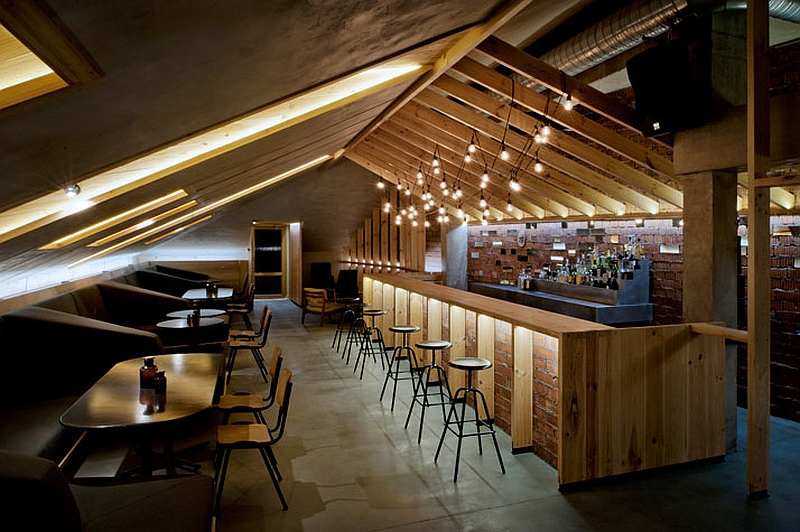 Bar Design Part - 49: Ravishing ATTIC Bar Blends Rustic Textures With Contemporary Design