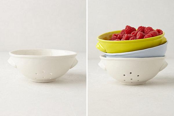 Ceramic colanders