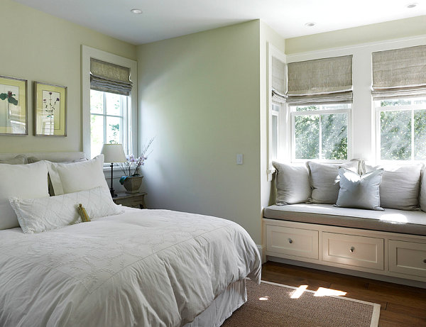 Chic bedroom window seat