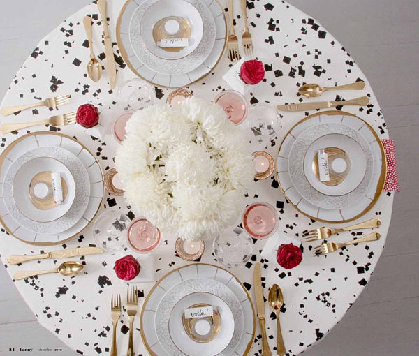Chic holiday table