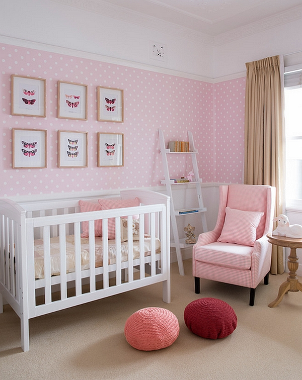 Chic kids' room in lovely pink