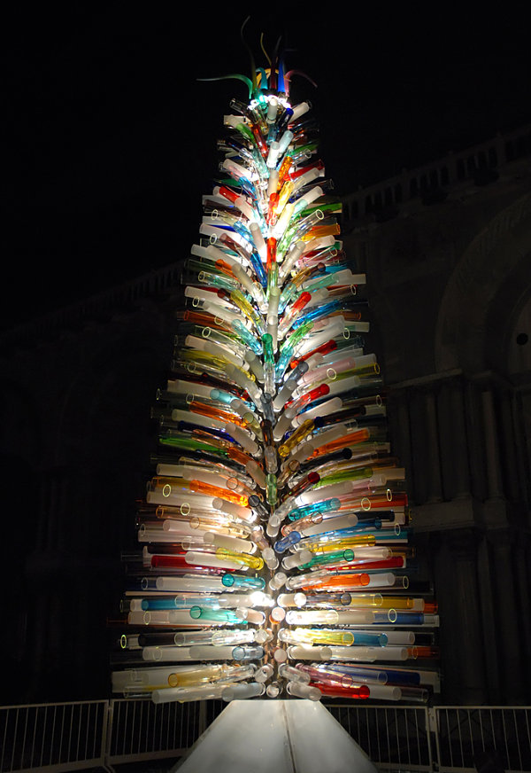 Christmas tree made of Murano glass
