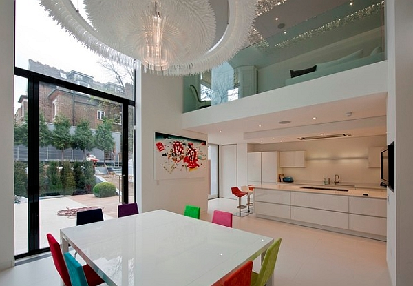 Clean and contemporary space in white