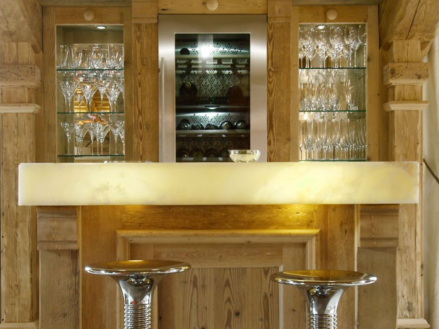 Closer look at the home bar