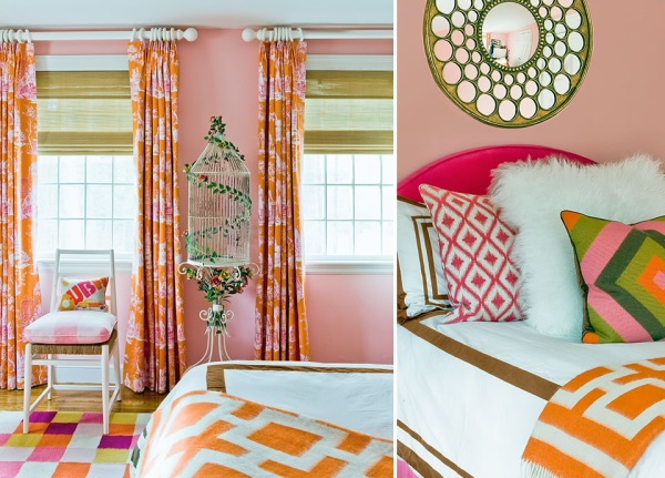 Colorful flourishes in a girl's bedroom
