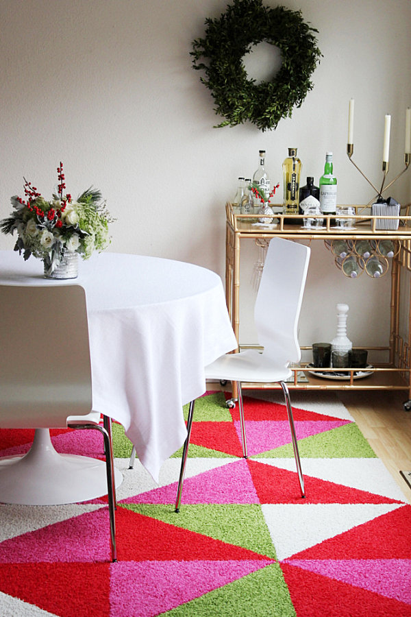 Colorful holiday rug