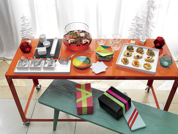 Colorful holiday table