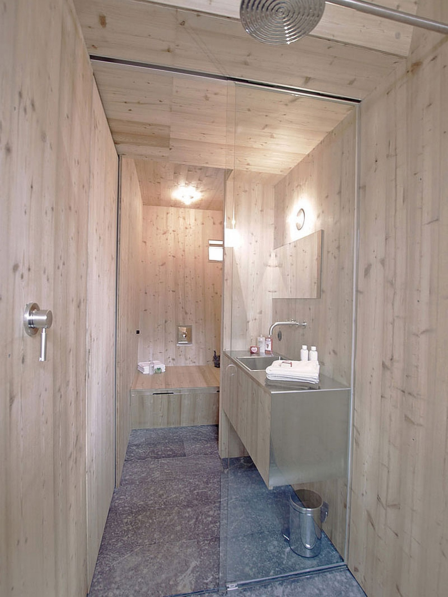 Compact bathroom and shower area