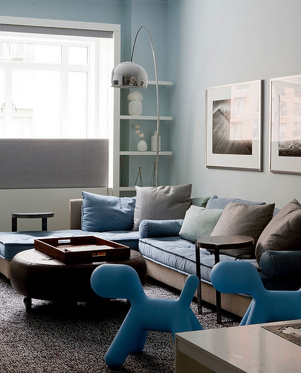 Complement the accent color in the room with a pair of Maggis Puppies