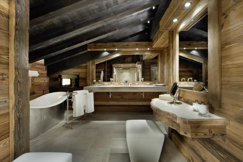Contemporary bathroom in Alpine style