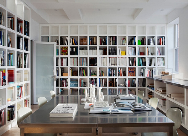 Contemporary office in white