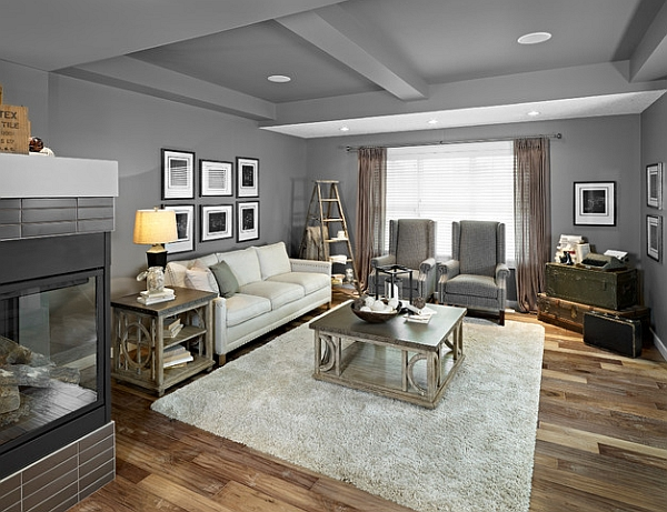 Stepping it up in style 50 ladder shelves and display ideas for Living room gray walls