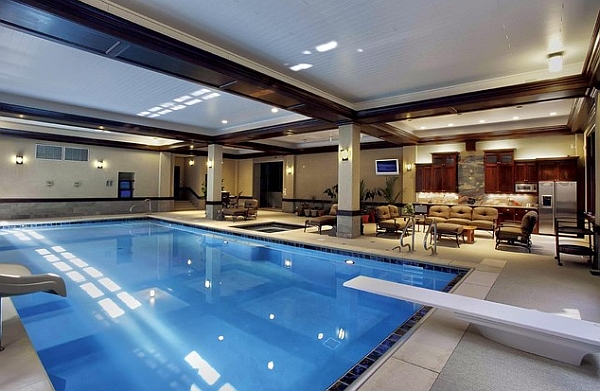 Swimming pool indoor  50+ Indoor Swimming Pool Ideas: Taking a Dip in Style