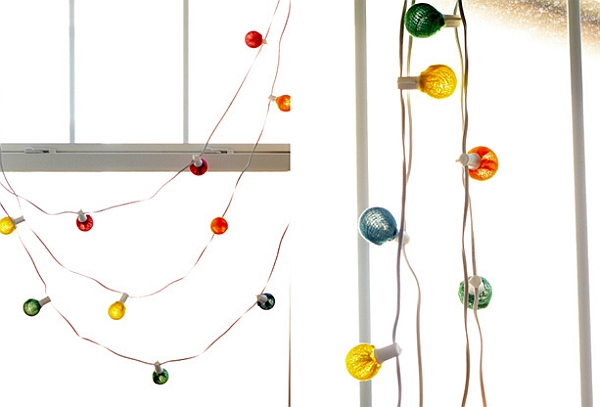 DIY Colorful Rainbow Strings Lights