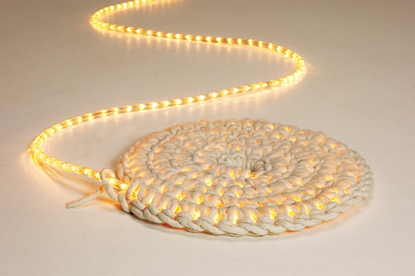 View in gallery DIY LED Rope Light Carpet