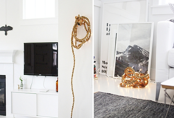 DIY Rope light idea for contemporary interiors
