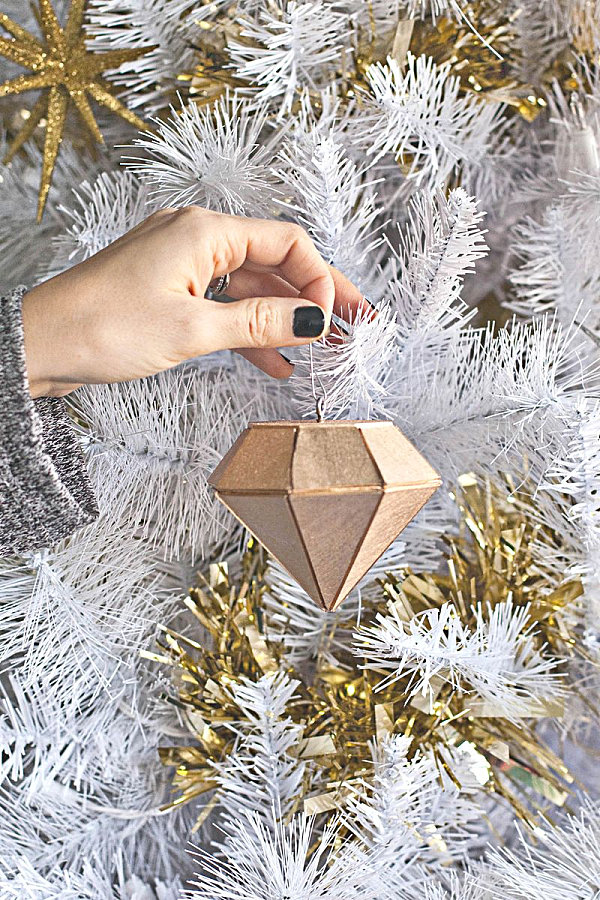 DIY gem ornament
