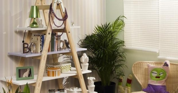 DIY ladder shelf idea for the modern home