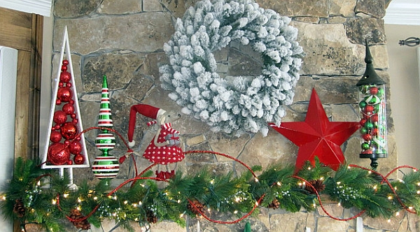 Christmas Mantel Decorations 50 christmas mantle decoration ideas