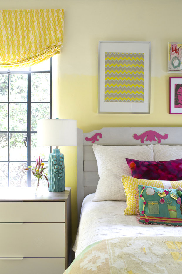 Eclectic design in a girl's room