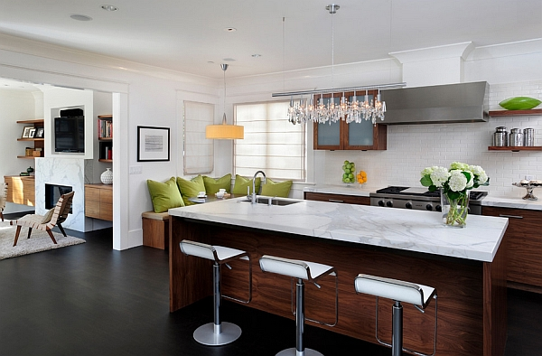 View In Gallery Elegant Bar Stools Complement The Countertop Perfectly
