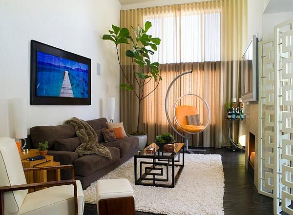 Elegant living room with an organic vibe
