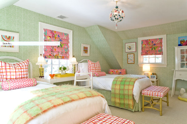 Elegant yet whimsical girls' room