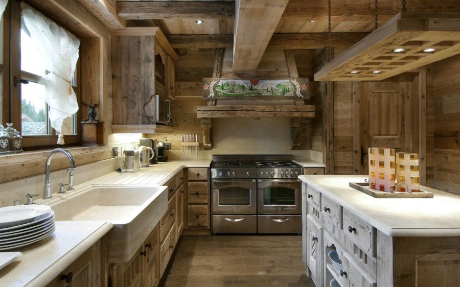 Ergonomic modern kitchen in the Chalet Pearl