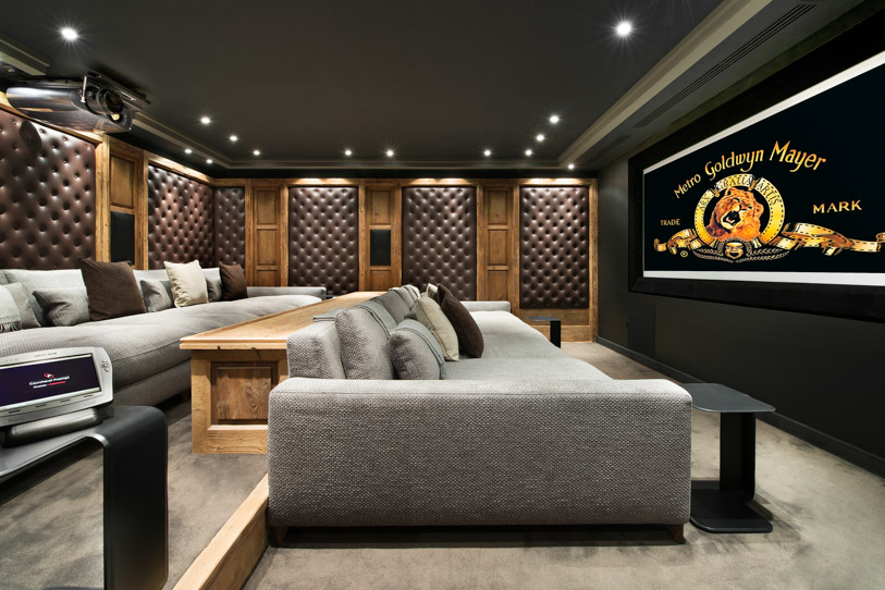 Expansive and stunning home theater in Chalet Edelweiss
