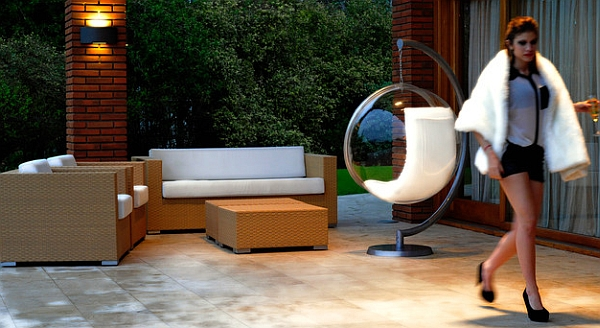 Fabulous Bubble Chair looks equally appealing outdoors Iconic And Playful Decor Inspirations By Eero Aarnio