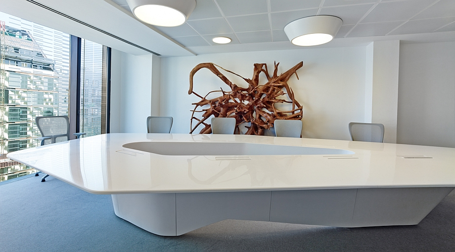 Fabulous conference room with art installation